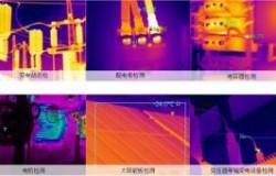 红外热成像仪检测屋顶安装式太阳能电池板
